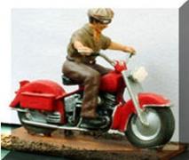 Motorcycle & Rider - Unpainted
