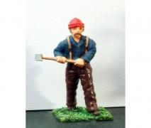 Lumberjack & Axe- Unpainted Figure