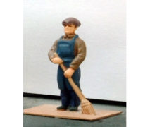 Boy Sweeper - Unpainted Figure